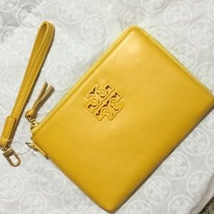 NWT TORY BURCH Lily Large Zip Pouch/Wristlet-Daisy